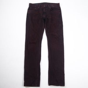 J Brand Kane Slim Straight Jeans in Synced Oxblood